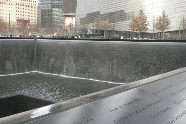 Part of the 9/11 memorial at 'Ground Zero' in New York City. (Courtesy of Ken Foote)