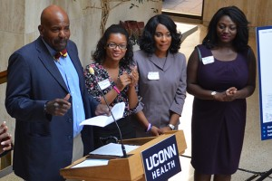 Dr. Cato T. Laurencin at a CICATS event. (UConn Health File Photo)