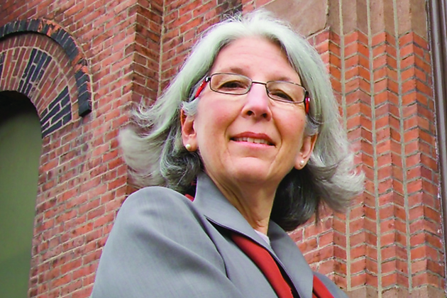 Judith Fifield, professor of family medicine and director of the Ethel Donaghue Center for Translating Research into Practice and Policy at UConn Health, outside Faith Congregational church in Hartford.
