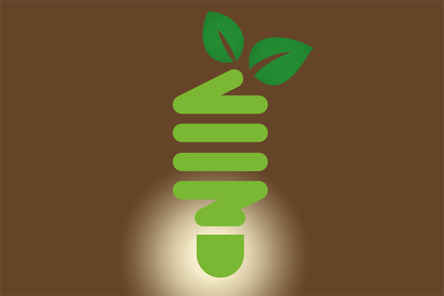 'Green' light bulb.