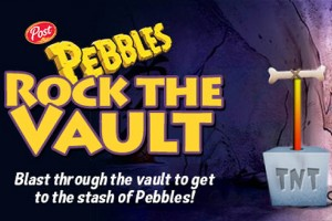 Pebbles Rock the Vault, a Post Co. video game for children.