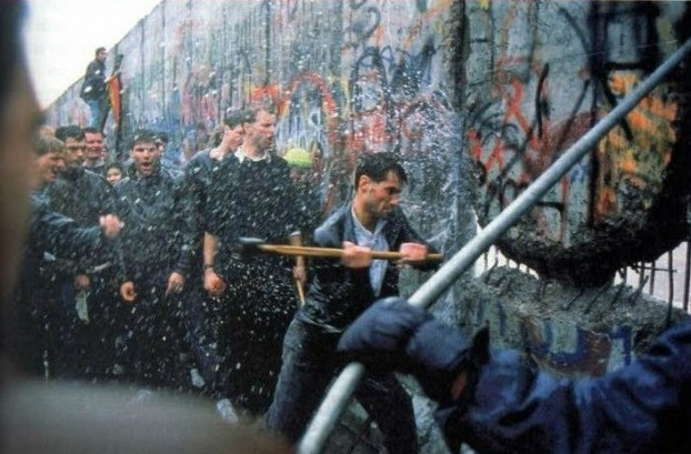 Image result for tearing down the berlin wall