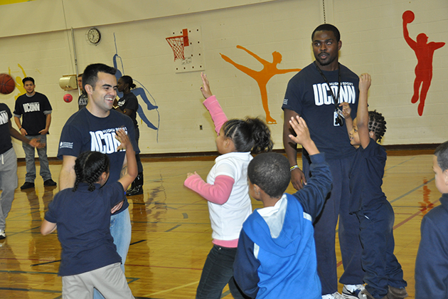 Using sport as a tool is at the heart of the Husky Sport model. (Neag School of Education/UConn File Photo)