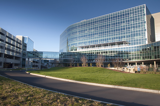 Construction on the Outpatient Pavilion nears completion in preparation for its early 2015 opening. (Janine Gelineau/UConn Health Photo)