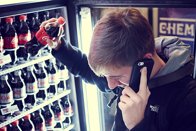 UConn researchers studying the impact of social media on soda purchasing choices found that the volume of conversations matters more than the sentiments expressed. (Peter Morenus/UConn Photo)