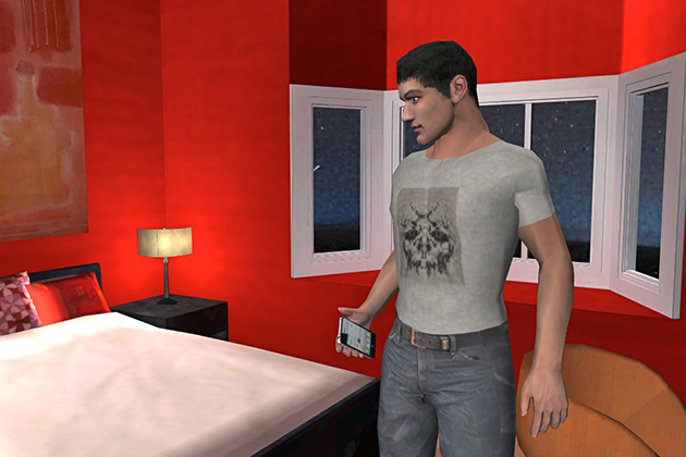 A screen shot from a video game developed by John Christensen, assistant professor of communication, to reduce HIV risk behavior.A screen shot from a video game developed by John Christensen, assistant professor of communication, to reduce HIV risk behavior.