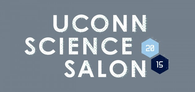 UConn Science Salon graphic. (Christa Tubach/UConn Graphic)