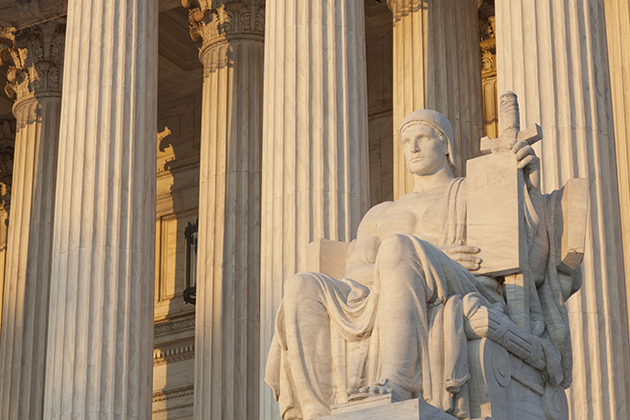 Statue outside the Supreme Court Building in Washington, D.C. (iStock Photo)