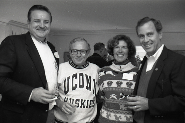 President Harry Hartley at a brunch, in October 1990. Harry Hartley, UConn's 12th President. (University of Connecticut Photograph Collection, Archives & Special Collections, UConn Libraries)