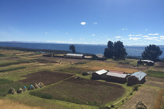 The homes selected for this service project were located in a small village called Luquina, on the shores of Lake Titicaca, which is the highest navigable lake in the world at 12,500 feet above sea level.