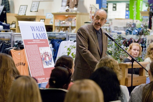 Wally Lamb speaks about his book, 'I'll Fly Away: Further Testimonies from the Women of York Prison,' at the UConn Co-op. 2007 Peter Morenus