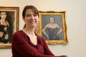 Anne D'Alleva, dean of the School of Fine Arts, at the William Benton Museum of Art. (Peter Morenus/UConn File Photo)