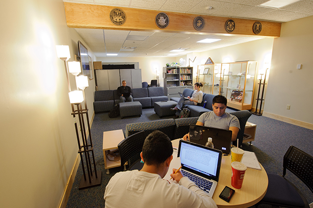 A view of the Oasis, a center for veterans at the Student Union on Jan. 31, 2012. (Peter Morenus/UConn Photo)