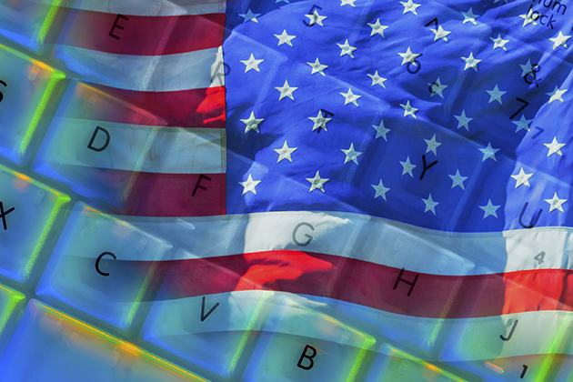 The American flag merged with a keyboard. (iStock Image)