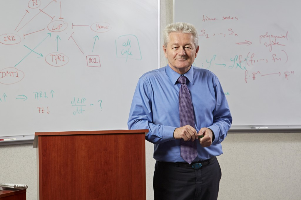 Reinhard Laubenbacher, a joint appointment between JAX and UConn Health, has been named a 2015 AAAS Fellow. (Lanny Nagler for UConn Health Center)