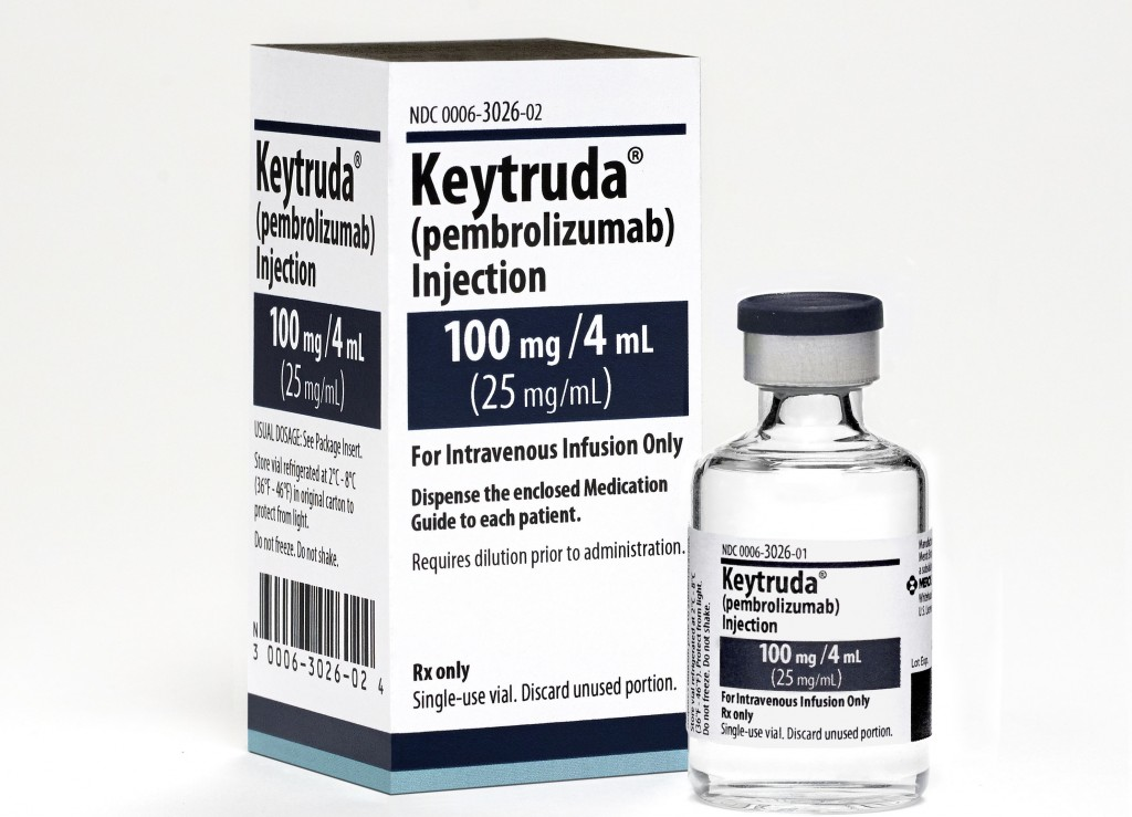 Keytruda is an immunotherapy drug that the Carole and Ray Neag Comprehensive Cancer Center at UConn Health is using to help some patients successfully fight advanced melanoma. (Photo Credit: Merck)
