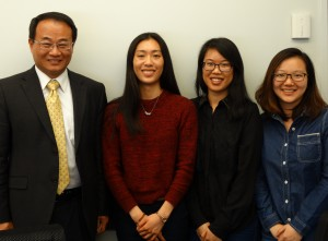 Photo of Dr. Wu with UConn students.