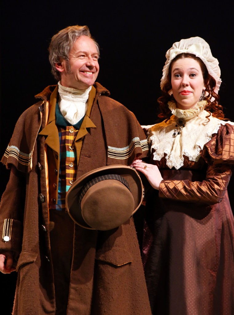 Guest artist Don Noble (Sir John Middleton) and Braley Degenhardt, '18 (SFA) (Lady Middleton) in the CRT production of 'Sense and Sensibility,' now playing at the Harriet Jorgensen Theatre. (Gerry Goodstein for UConn)