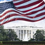 American flag flying in front of the White House. (iStock Photo)