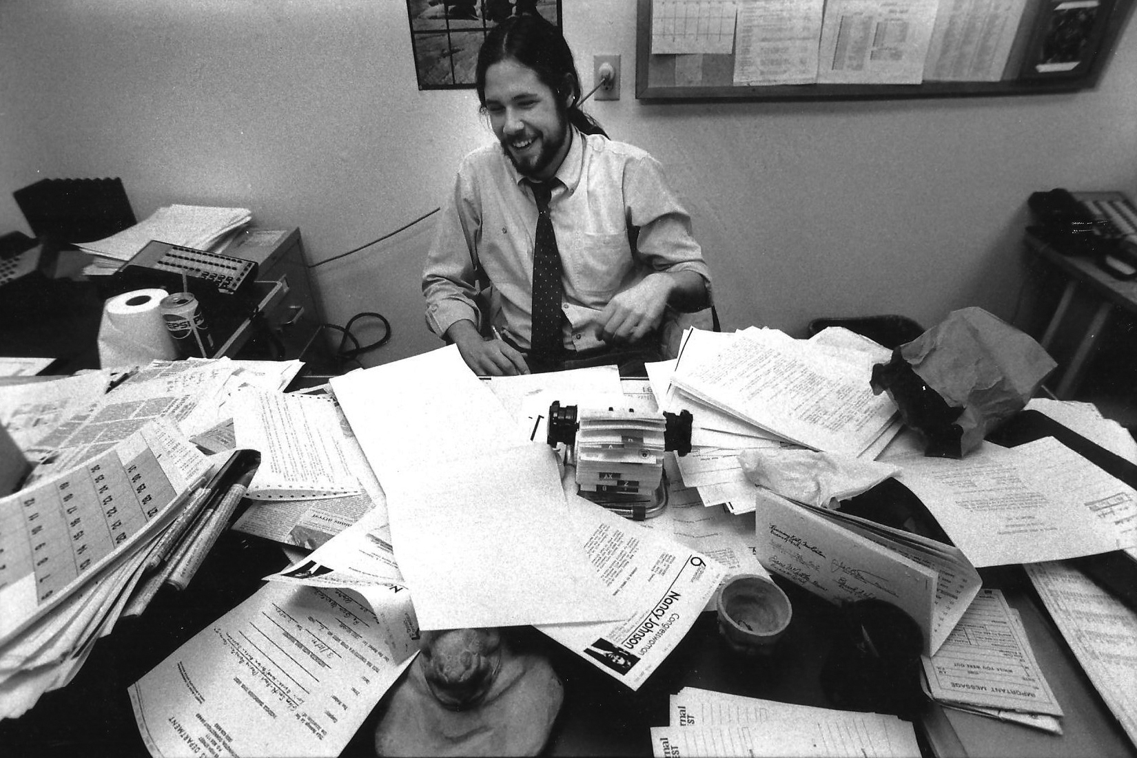 """""""To look like that and be a cop reporter, it really takes something,"""" said Smith's first boss at Charleston's The Post and Courier. (UConn Magazine photo)"""