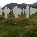 Gravestones at the Potočari genocide memorial near Srebrenica. (Michael Büker Photo, via Wikimedia Commons)