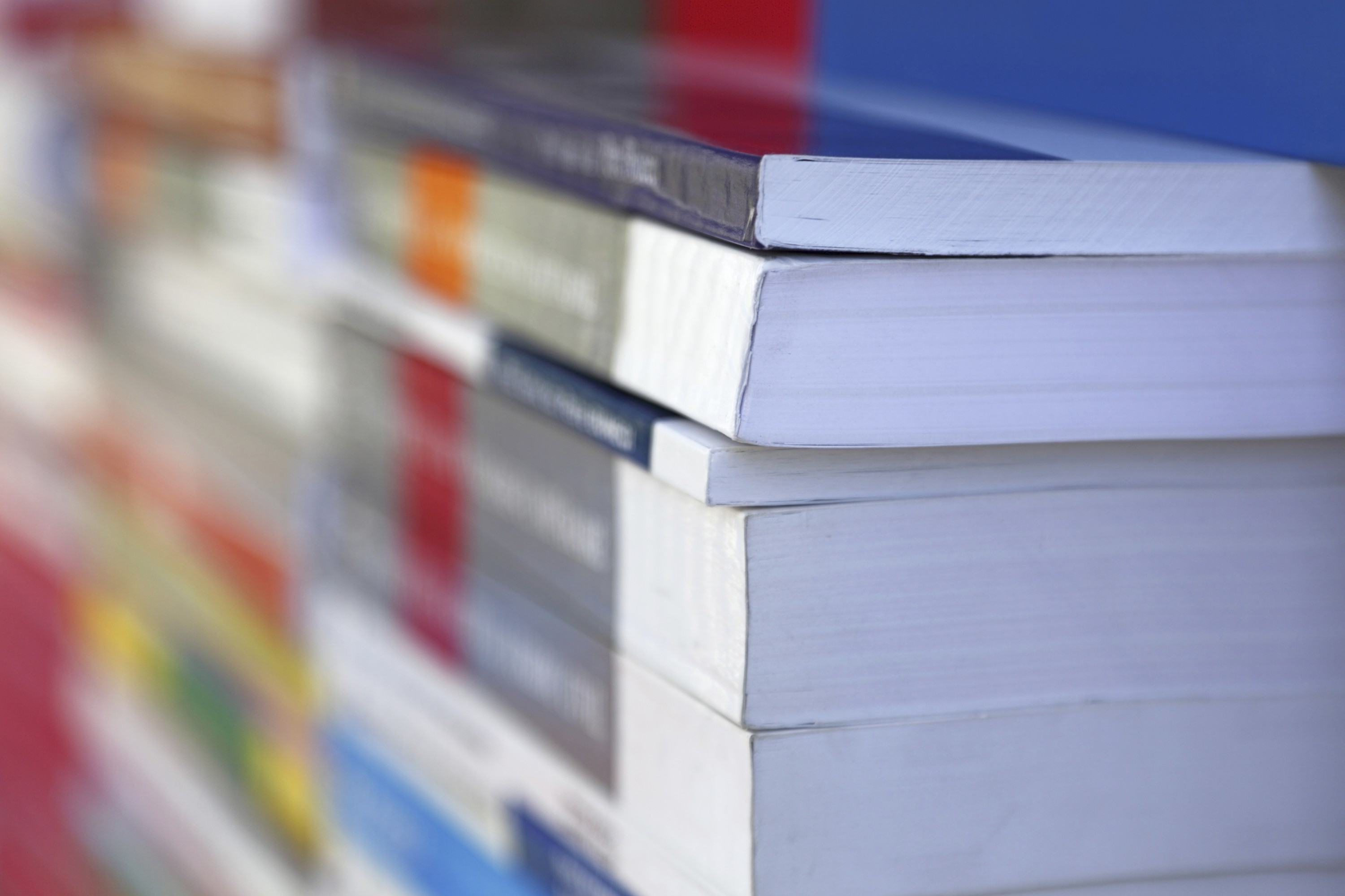 Abstract image of textbooks at a bookstore. (iStock Photo)