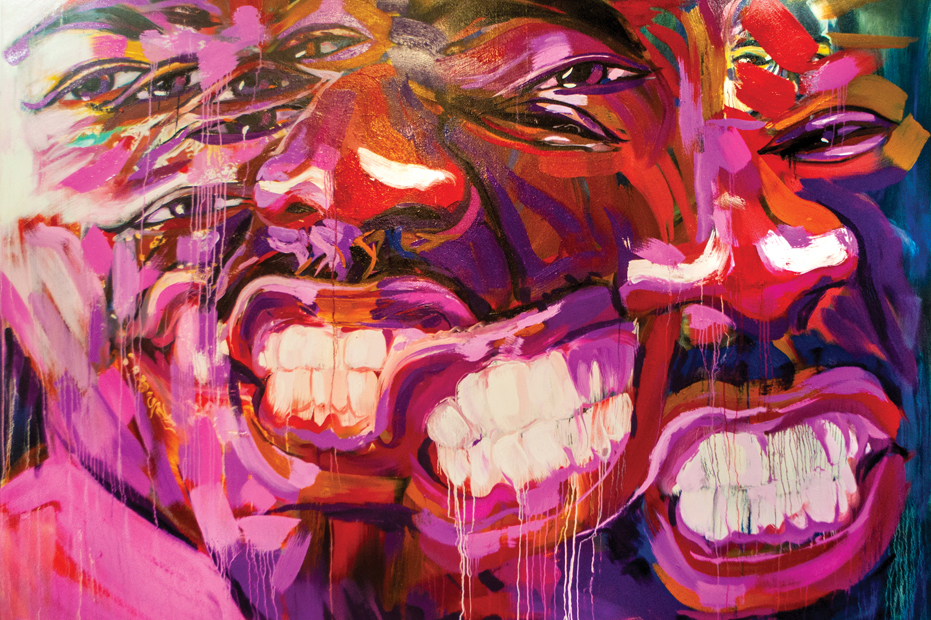 Kamar Thomas, The Big Purple One, detail from