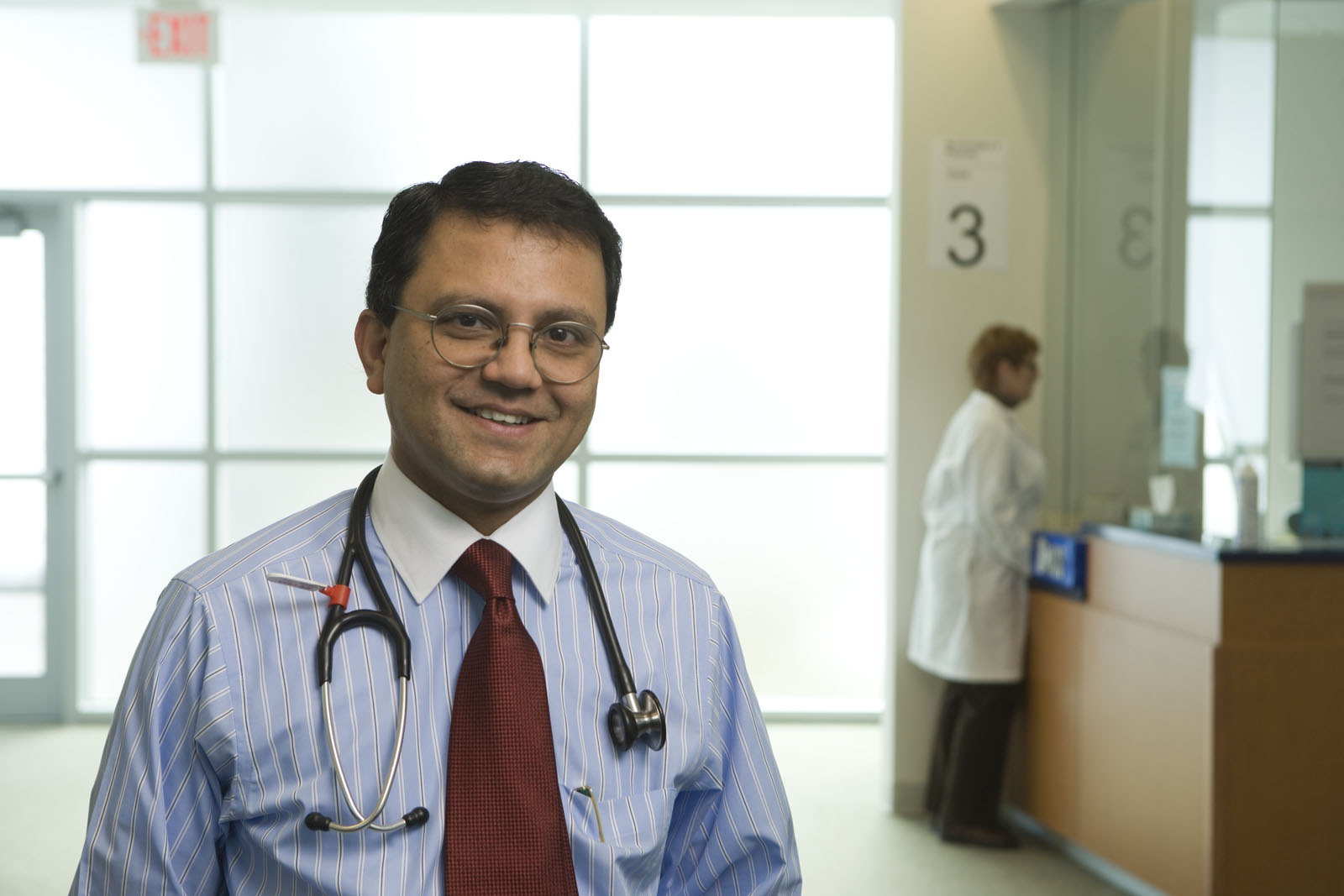 Dr. Santhanam Lakshminarayanan has been named the new Division Chief of Rheumatology at UConn Health. (Photo by Lanny Nagler)