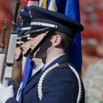 The Veterans Day Ceremony on Nov. 8, 2013. (Ariel Dowski '14 (CLAS)/UConn File Photo)