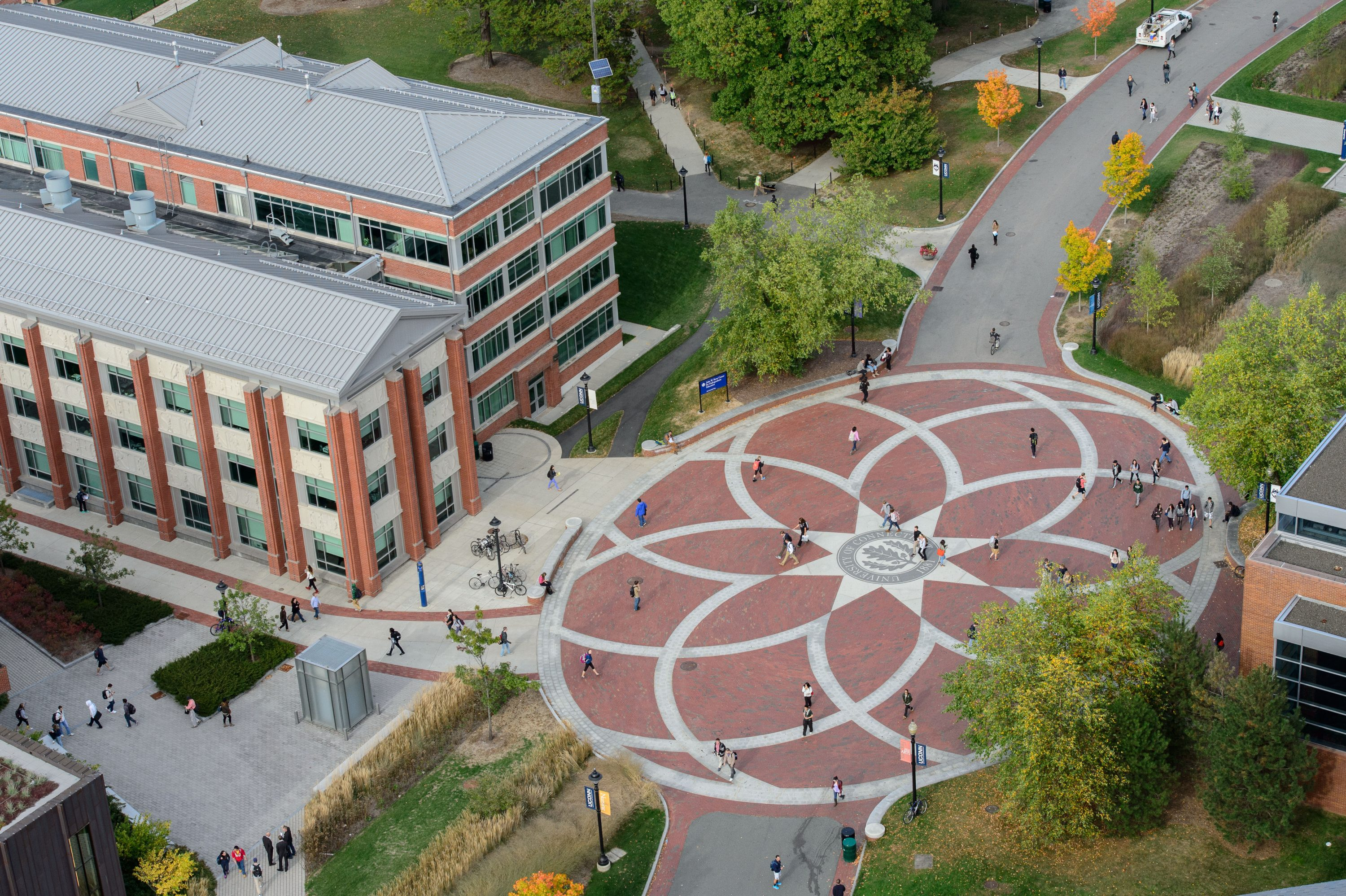 An aerial view of UConn's Storrs campus. (Peter Morenus/UConn File Photo)