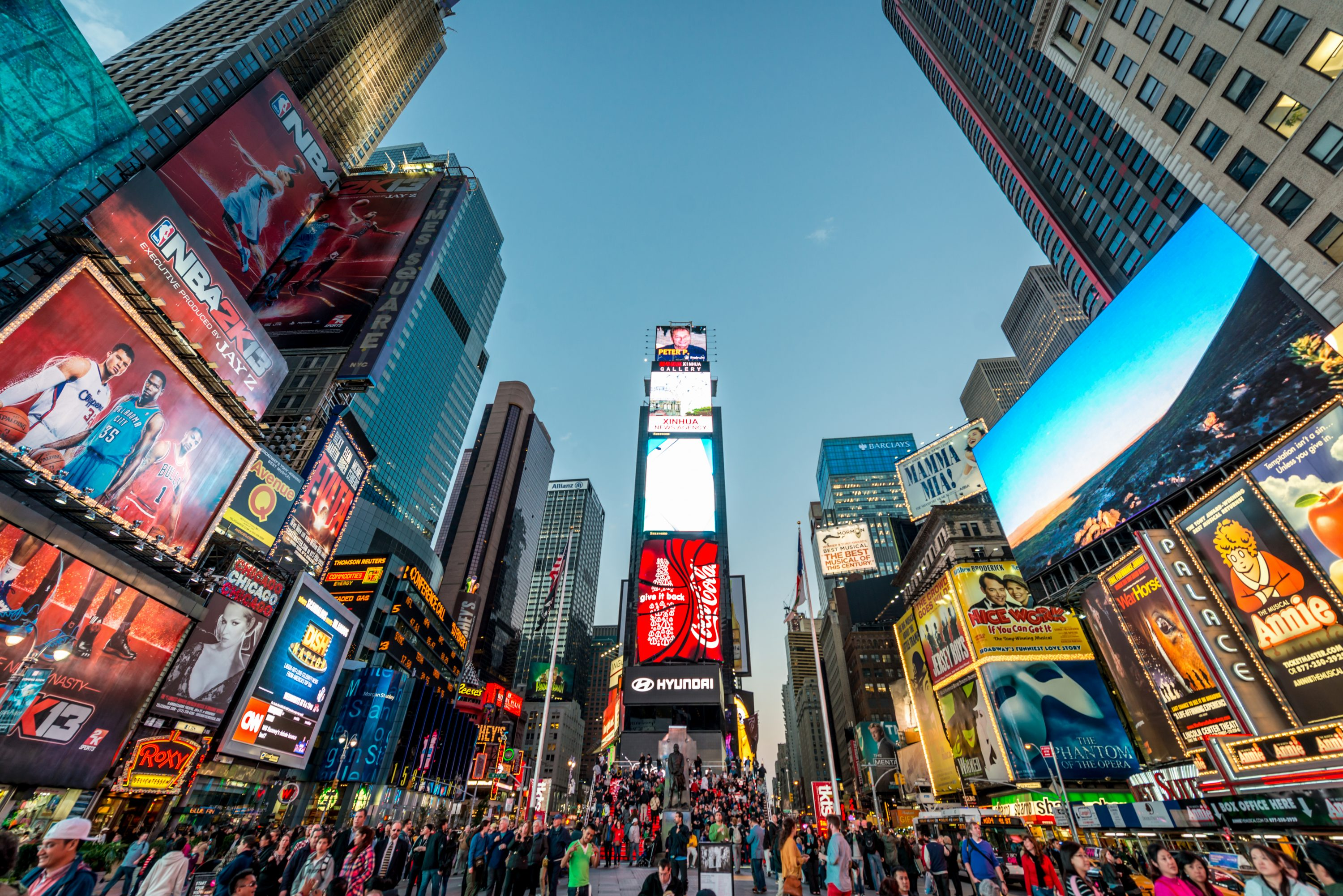 Lights in New York City's Times Square. (iStock Photo)