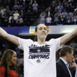 Breanna Stewart earned two ESPYs after leading the Huskies to an undefeated season and an unprecedented fourth straight national championship. (Brian Spurlock, USA TODAY Sports)