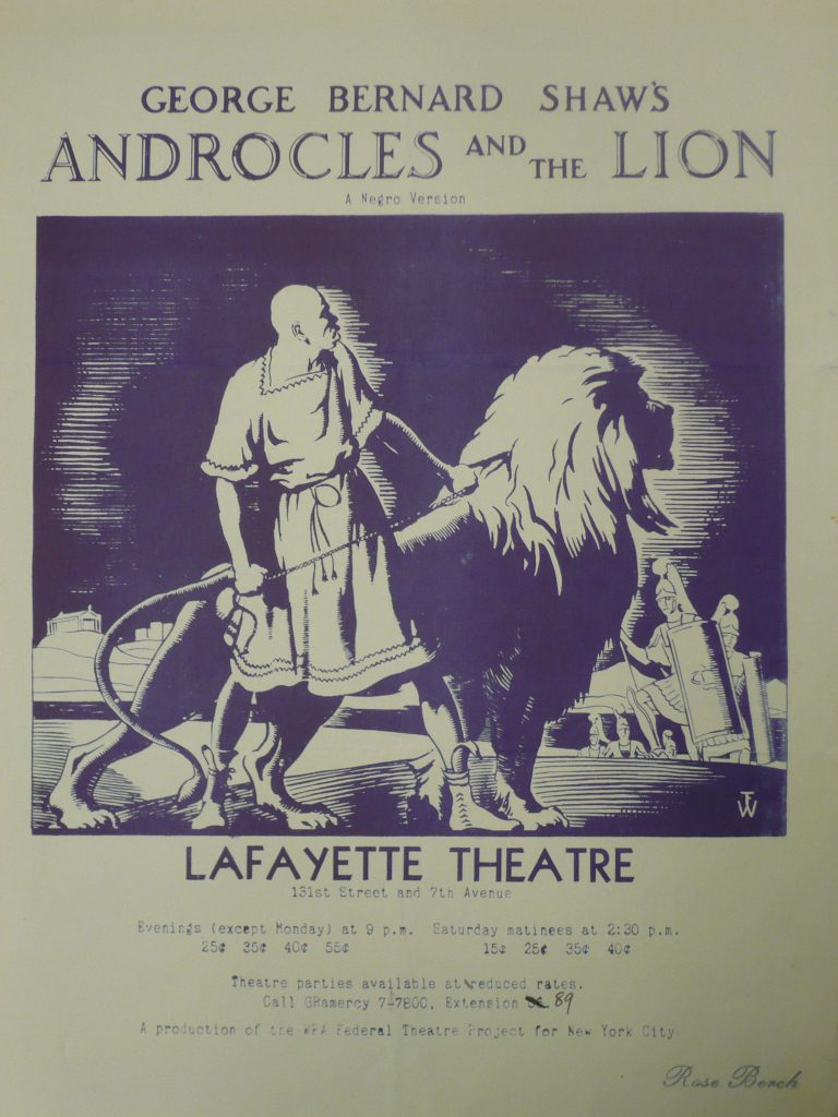 Publicity flyer for Androcles and the Lion. (Public Domain)