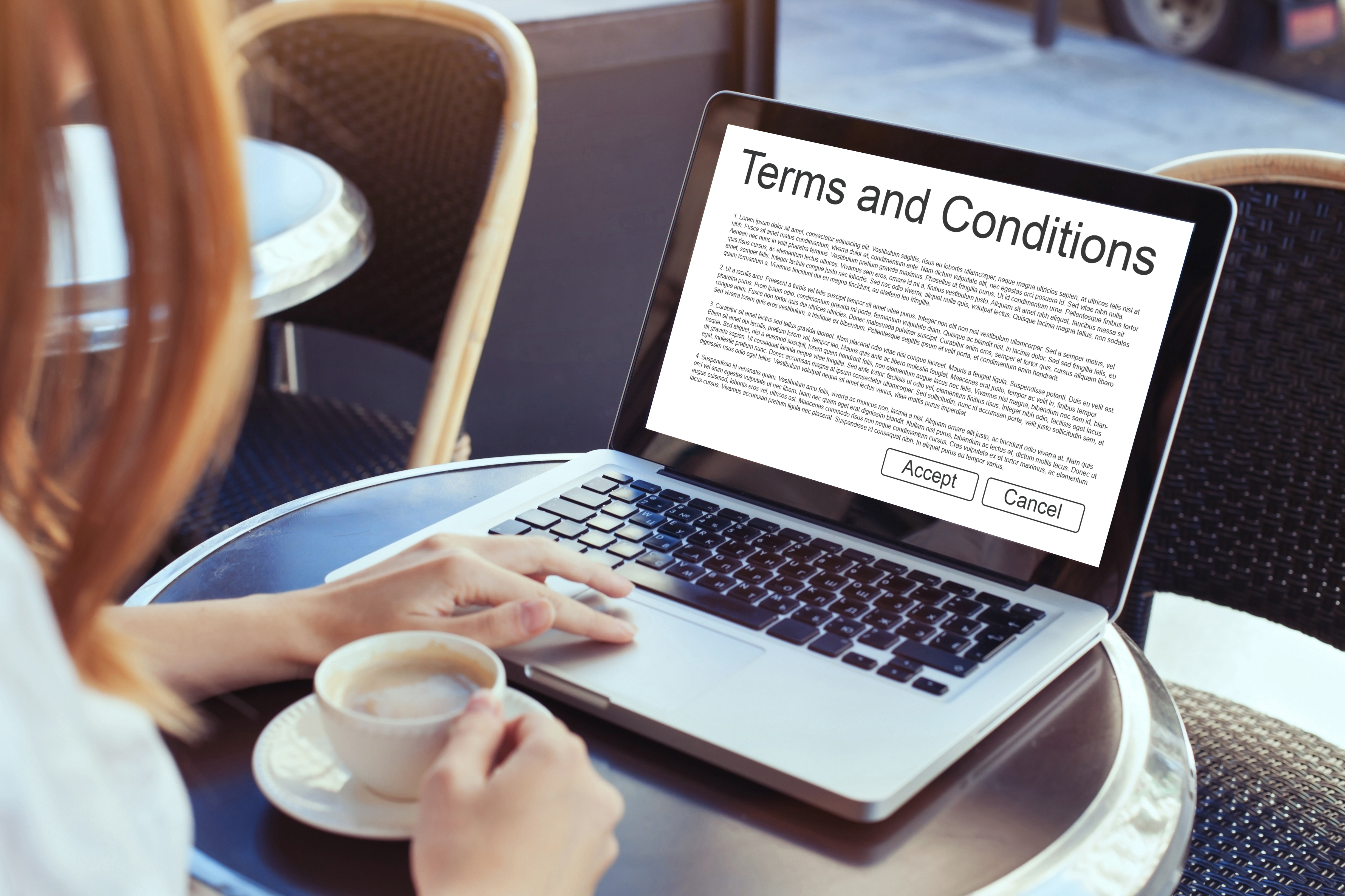 Terms and conditions of use is the concept on the screen of computer. (iStock)