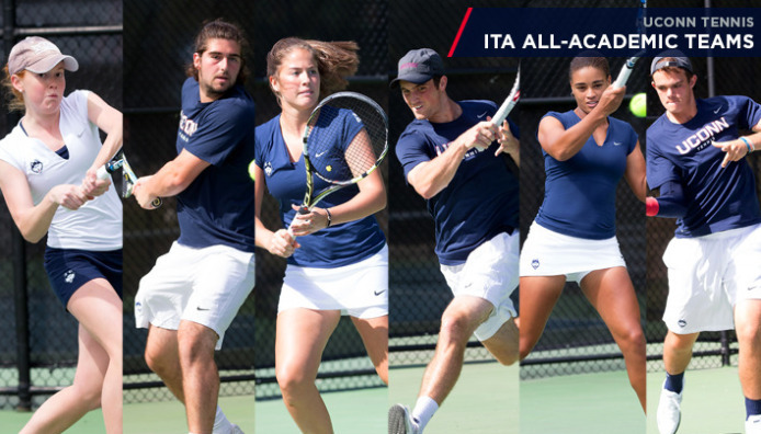 Six student-athletes on the men's and women's tennis teams earned individual academic honors. (Athletic Communications Photo)