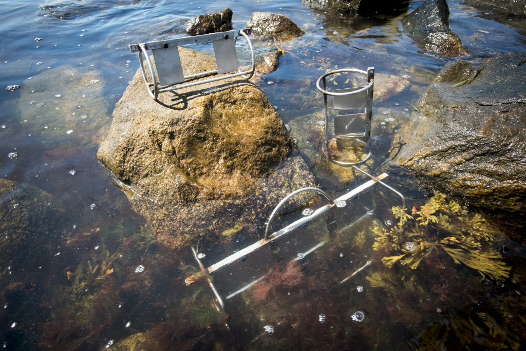 A passive sampling device for improved detection of toxic organic pollutants. (Sean Flynn/UConn Photo)