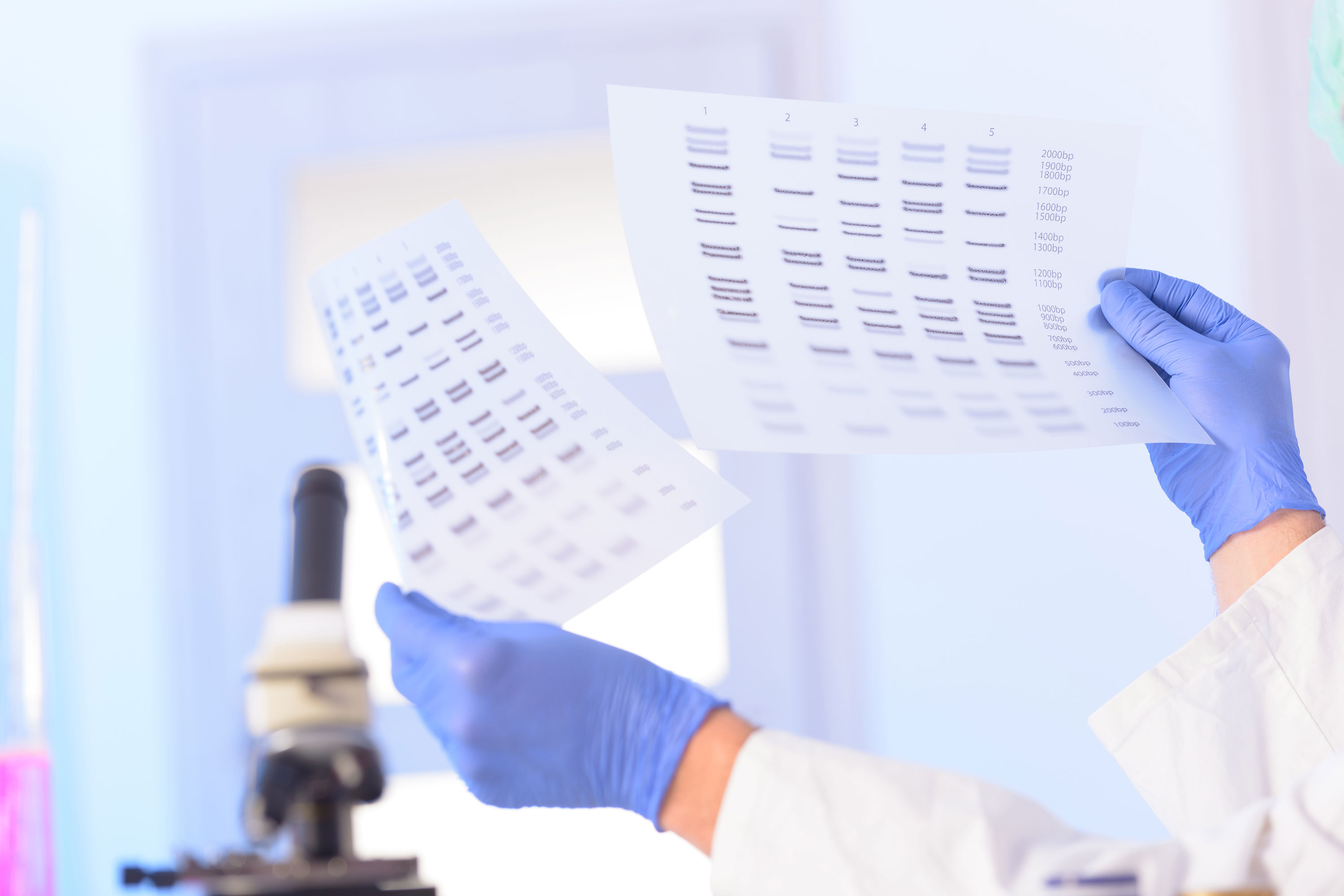 Scientist analyzing DNA sequence. (Shutterstock Photo)