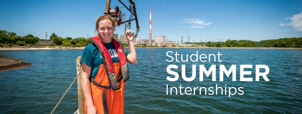Student Summer Internships - Hannah Casey interning (internship) at the Millstone Nuclear Power Plant's Environmental Lab