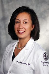 Biree Andemariam MD specializes in hematology and medical oncology in the Carole and Ray Neag Comprehensive Cancer Center at UConn Health.(Janine Gelineau/UConn Health Photo)
