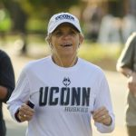 Students, alumni, friends, and family participated in the Huskies Forever 5k on Sunday morning, Oct. 16. (Garrett Spahn/UConn Photo)