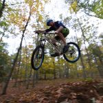 Mountain biking at UConn. (Ryan Glista/UConn Photo)