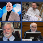 Four UConn professors have been named Fellows of the AAAS. Clockwise from top left: Mike Willig, Jonathan Bobaljik, David Benson, and Arthur Hand.