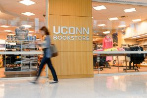 A view of the UConn Bookstore at the Stamford campus on Oct. 19, 2016. (Peter Morenus/UConn Photo)