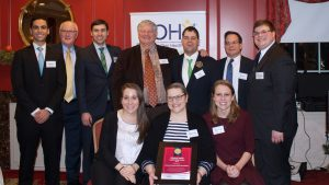 On Dec. 7 UConn's dental school accepted the 2016 Golisano Health Leadership Award from the Special Olympics (Photo: Special Olympics CT).