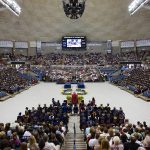 Commencement ceremonies taking place in Gampel Pavilion. (File photo by Stephen Slade '89 (SFA) for UConn)