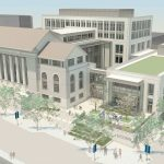 Rendering of new UConn Hartford downtown campus. (Rendering by HB Nitkin Group, Ramba, Robert A.M. Stern Architects LLP)