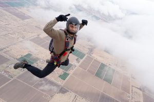 Nick Jayakar '19 (ENG), a member of the UConn Skydiving team on Jan. 3, 2017. (Supplied by Douglas Hendrix)