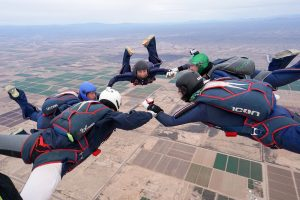 During winter break, the UConn Skydiving Team went to Skydive Arizona for the USPA National Collegiate Parachuting Championships. (Douglas Hendrix)