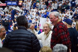 Fans packed Gampel Pavilion to watch UConn Women's Basketball win its 100th game. (Jack Templeton/UConn Photo)