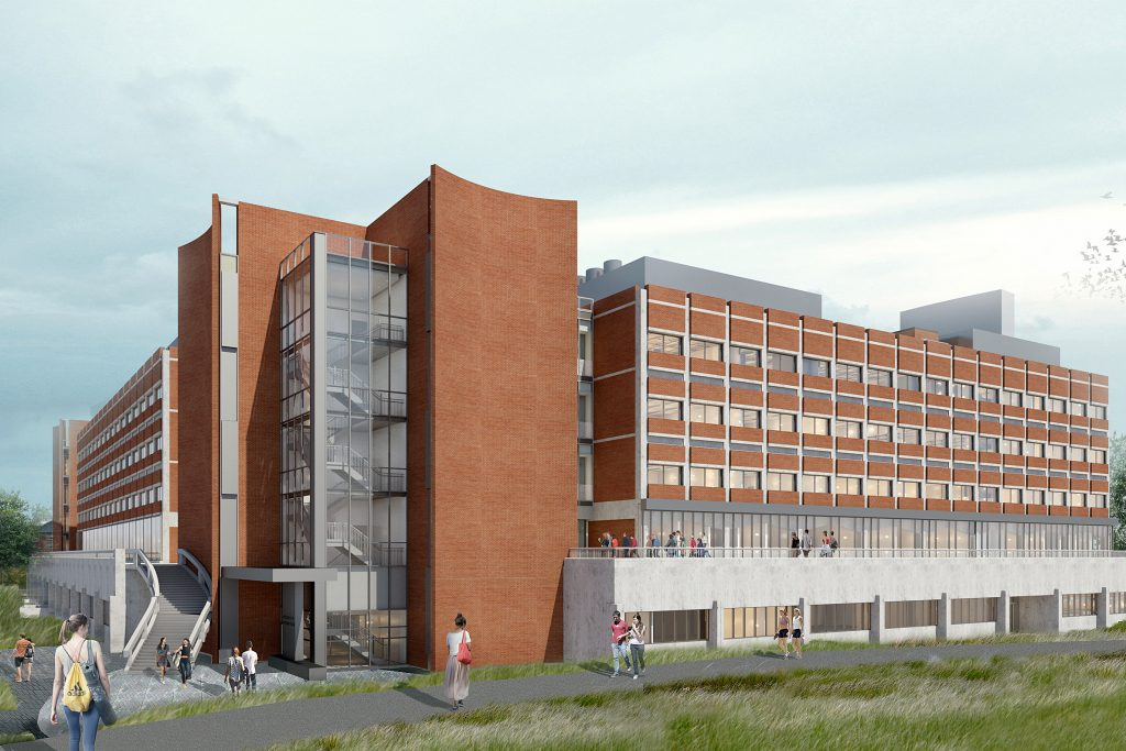 Artist's impression of the renovated Gant Southwest Corner exterior.